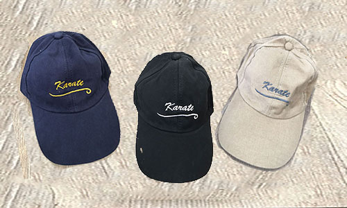 Caps – Karate Embroidered