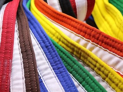 striped belts